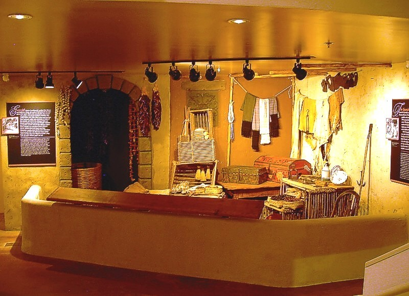 """One of the exhibits at the Museum: The """"Tienda"""" where visitors see what materials the trailblazers needed to survive in New Mexico. Courtesy of Friends of the El Camino Historic Trail."""