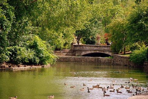 A quiet view of Centennial Park
