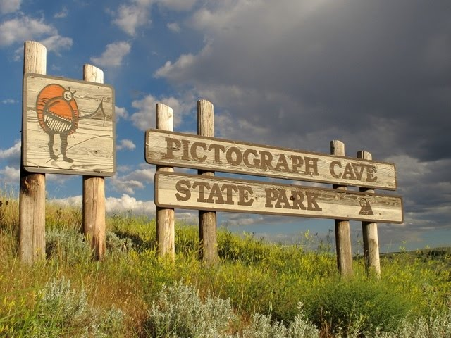 The Pictograph State Park sign