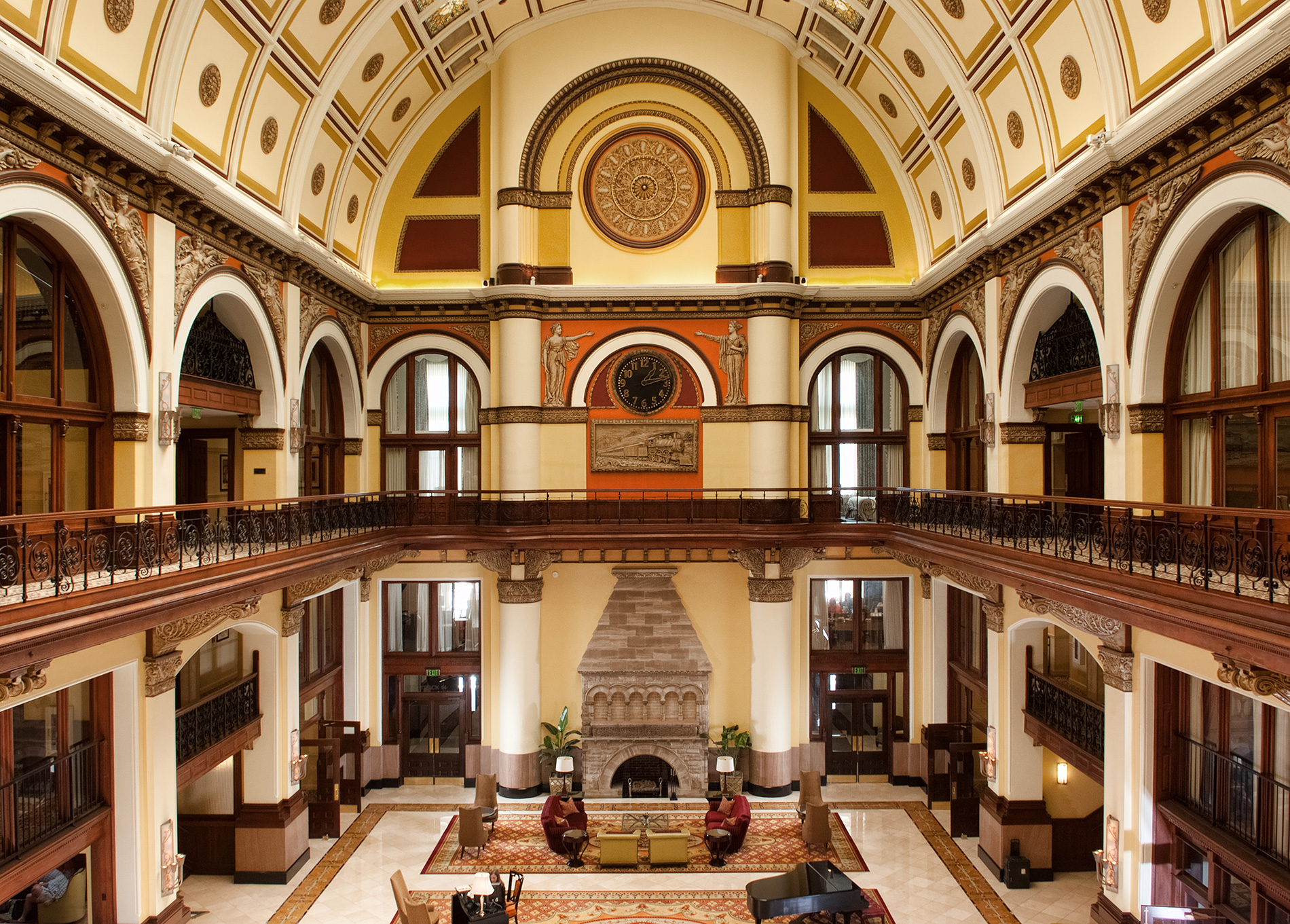 Interior view of the Union Station Hotel