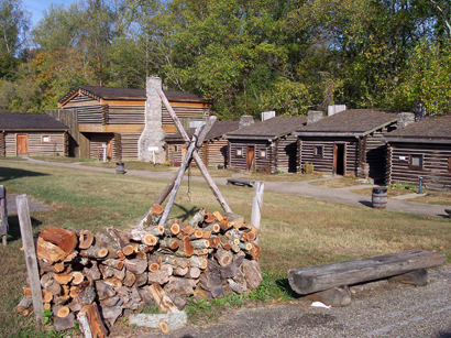 Interior of Fort Boonesborough reconstruction