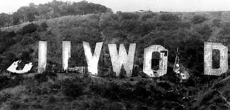 The deterioration of the Hollywood Sign