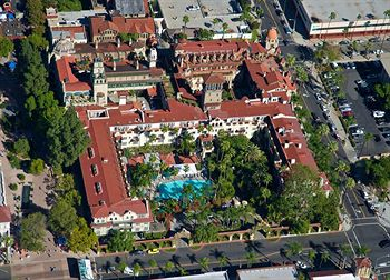 Aerial view of the Mission Inn Hotel and Spa