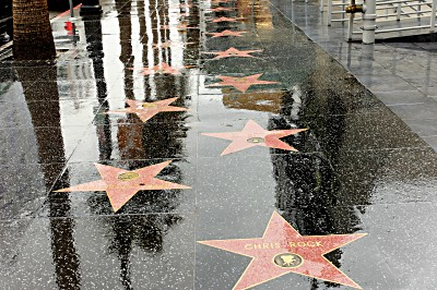One of the walkways of the numerous Hollywood personalities
