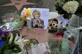 The star that became a memorial for the beloved entertainer Joan Rivers