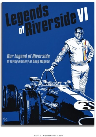 A legend poster at the Riverside International Auto Museum