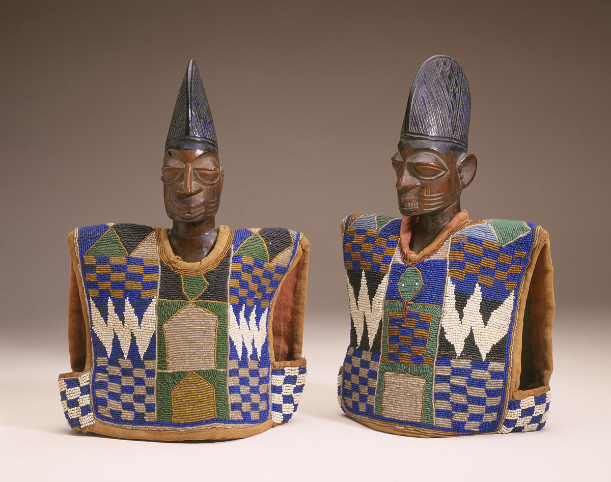 Twin Memorial Figures, Yoruba Peoples, Nigeria