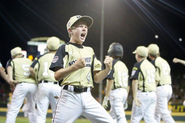 Billings All-Stars celebrating after a walk-off victory in the LLWS Regional.
