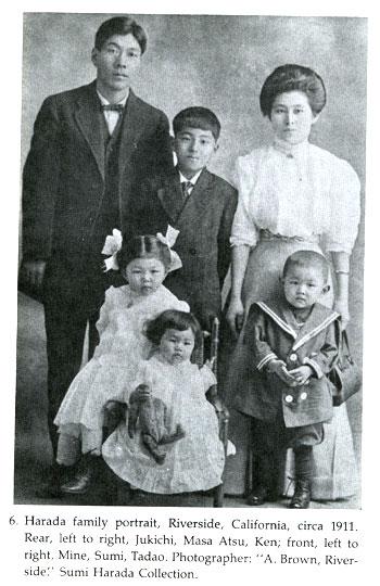 Harada family portrait circa 1911