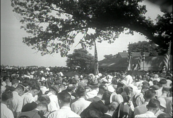 Funeral for victims of the Chiquola Mill shooting.