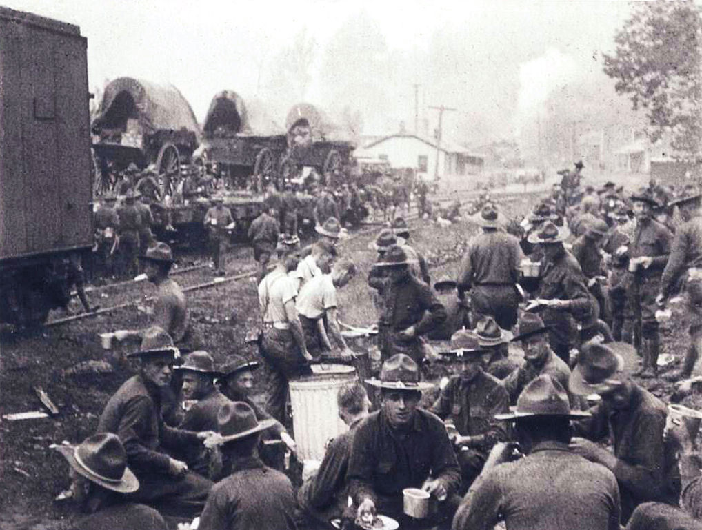 Federal troops camped at Blair Mountain.
