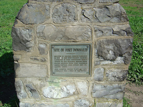 Marker at the former location of the fort.