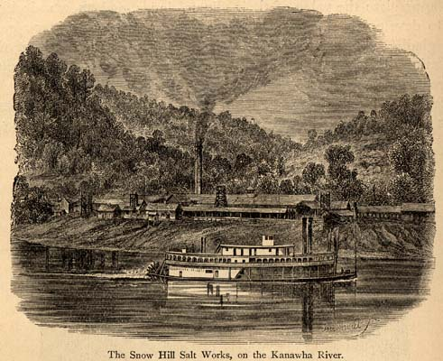 Early salt manufacturer along the Kanawha River.