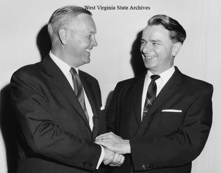 Roberet C. Byrd and Governor Hulett C. Smith