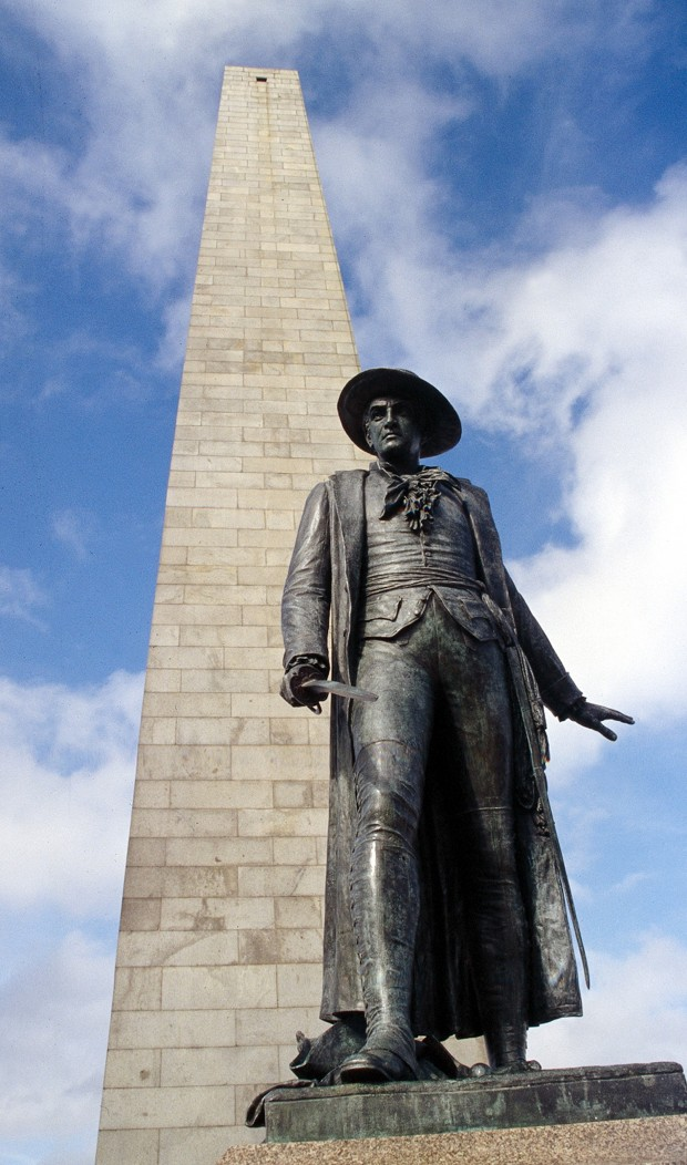 Photograph of the Bunker Hill Monument in Boston, MA.