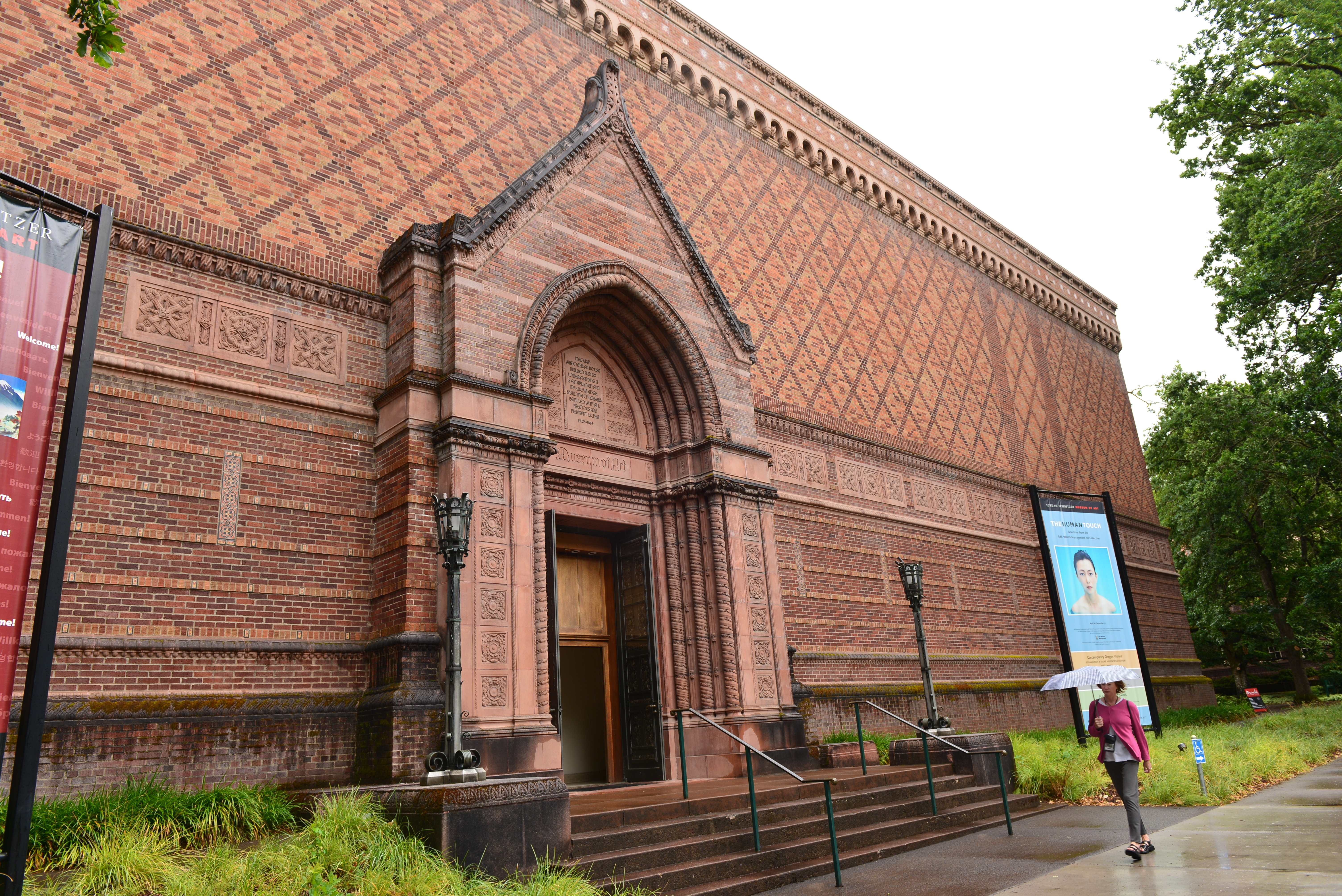 The original part of the museum is listed on the National Register of Historic Places for its eclectic architecture.