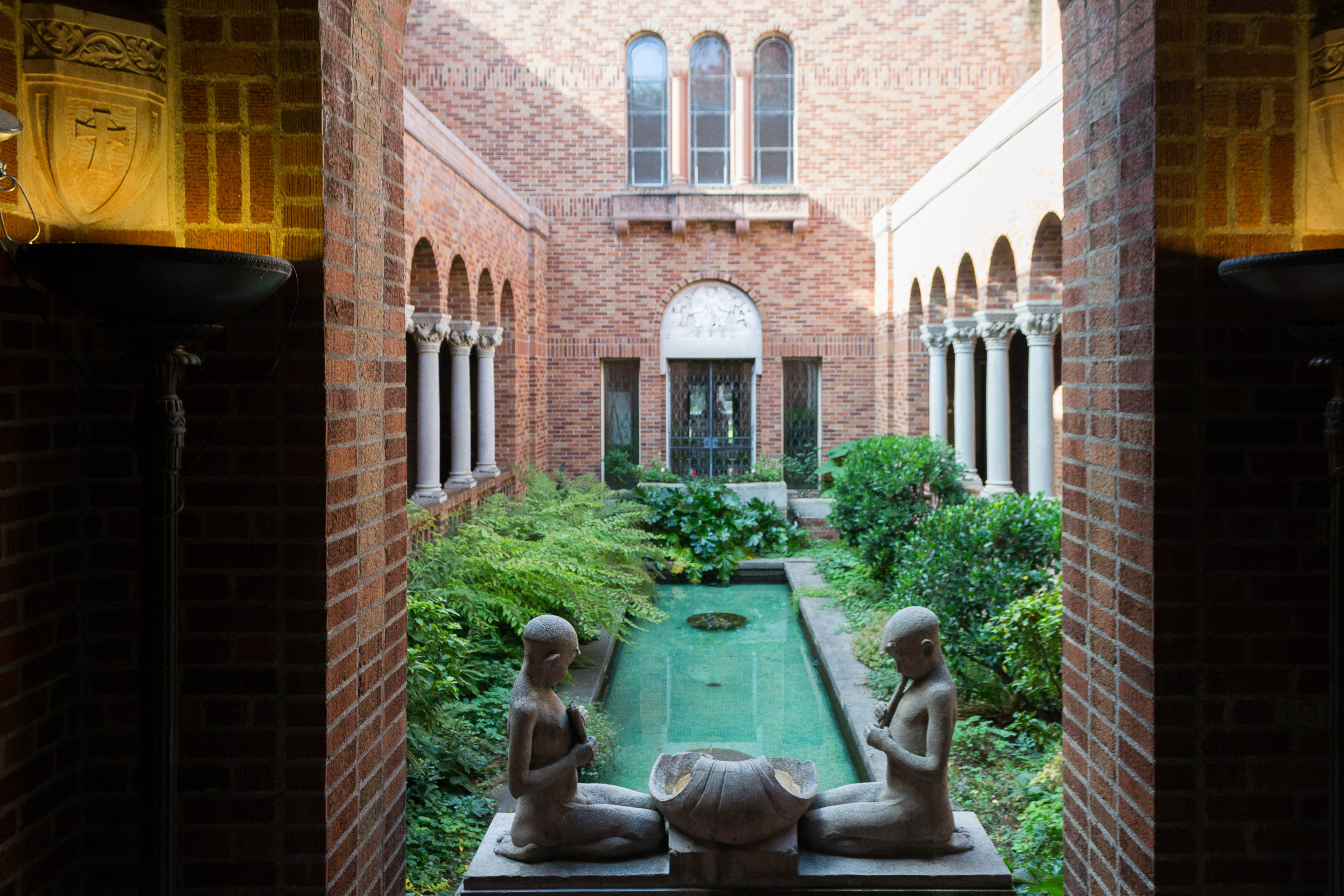 This courtyard garden is a highlight of the museum.