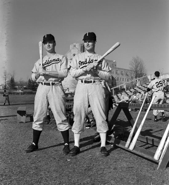 Harry and Don Ritter in 1947 Uniforms