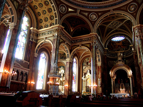 The inside of the Basilica of St. Josaphat