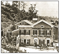 Historic photo of the brewery