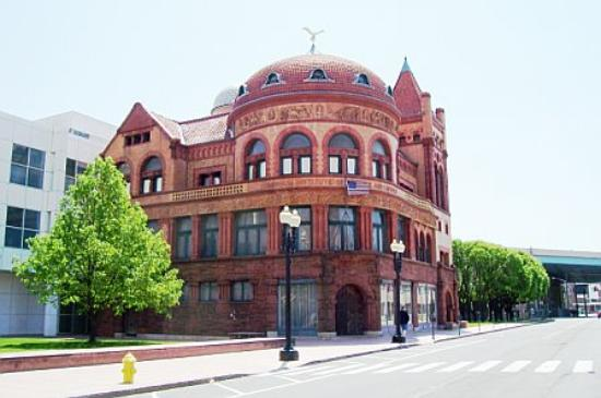 A view of the Barnum Museum from Main Street in Bridgeport