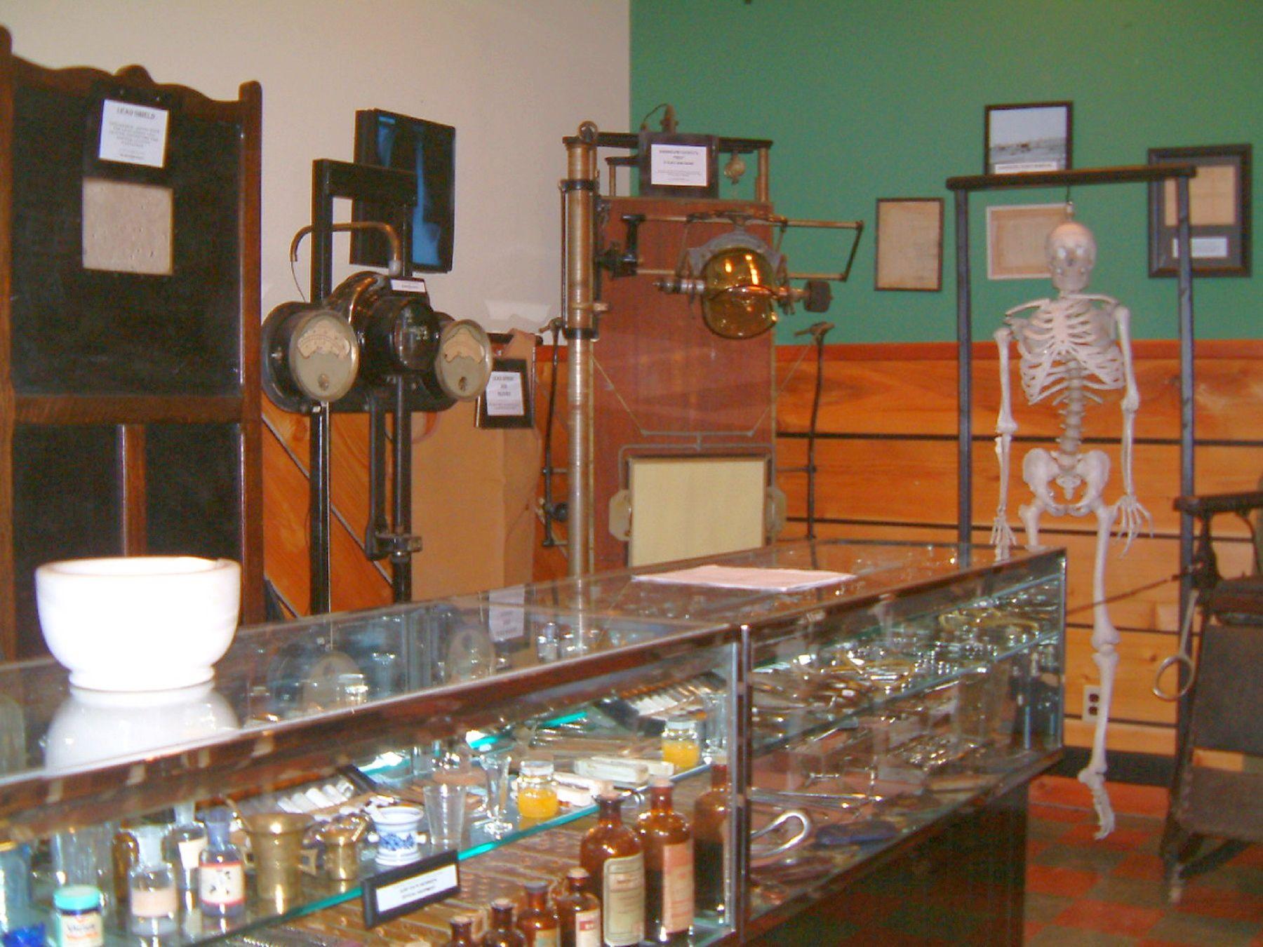 Old medical instrument exhibit