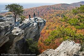 Hanging Rock affords great views of the park and surrounding area.