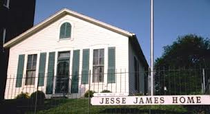 Visitors can also tour the Jesse James' Home.