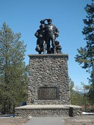 The statue located in the Donner Memorial State Park.