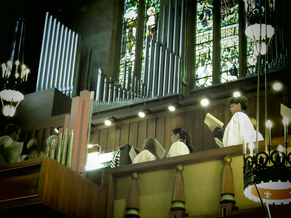 A view of the cathedral's choir and church organ