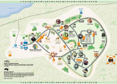 Beardsley Zoo Map