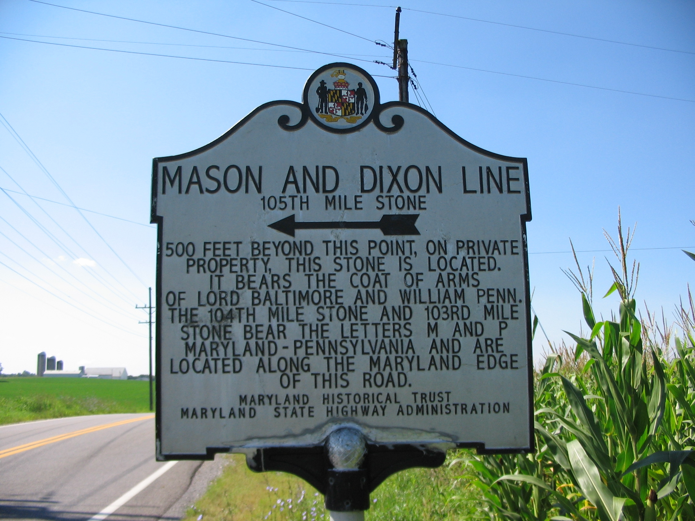 The Mason-Dixon Line, first employed to resolve a bitter land dispute, became a symbol of sectionalism and somewhat a notional division between the Northern and Southern states