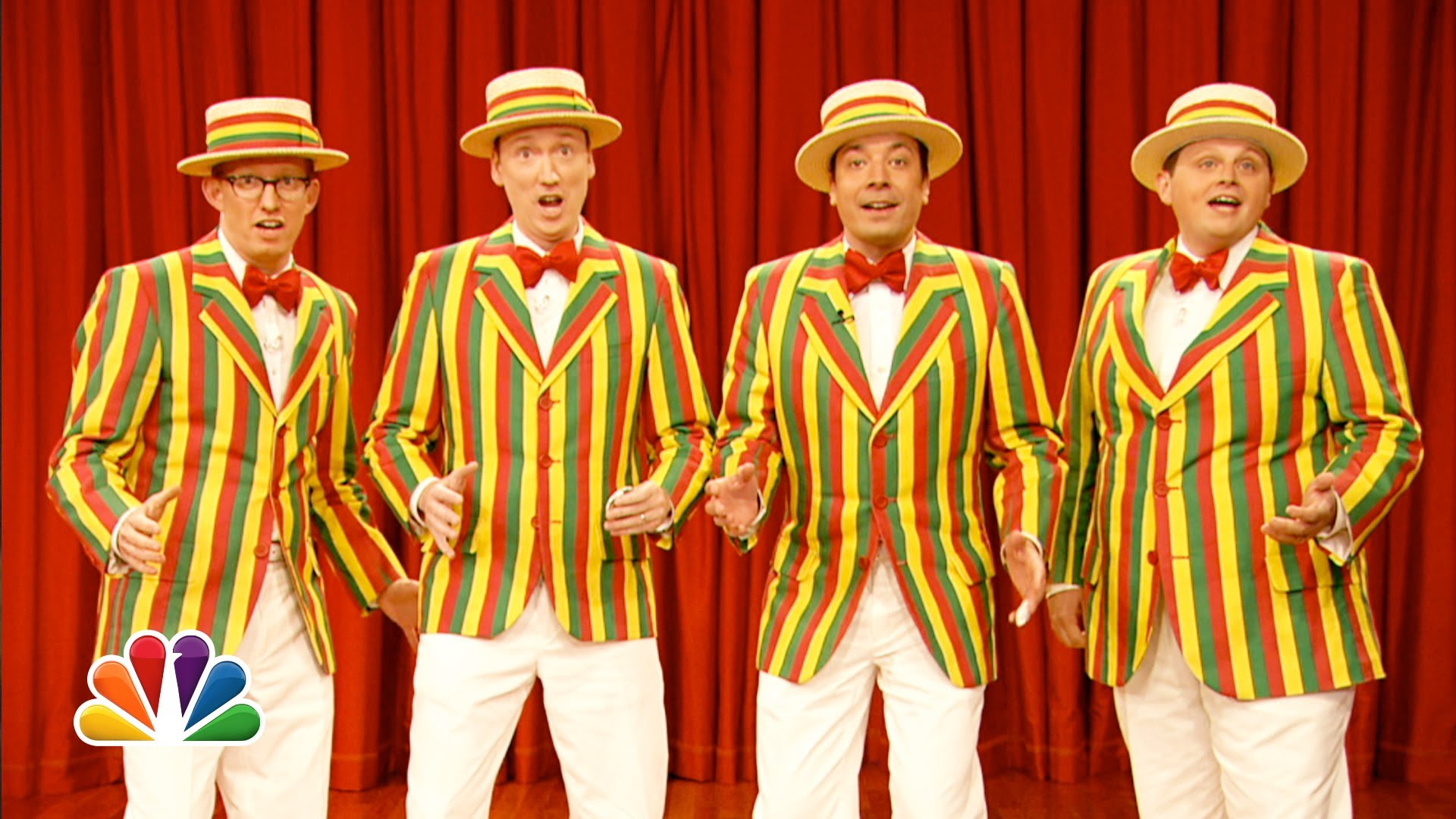 Jimmy Fallon and his Barbershop Quartet