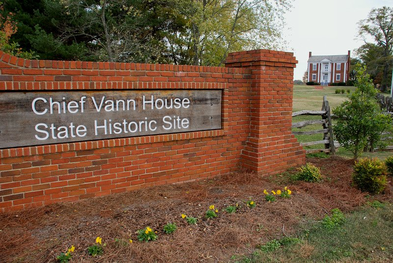 Outside the Chief Vann House Historic Site