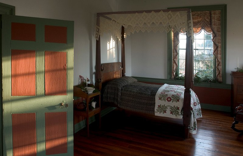 One of the bedrooms inside the house