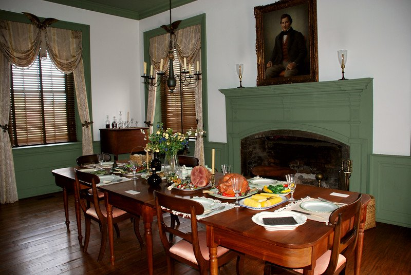 The dining room of the house