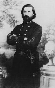 Captain Peyton Holt Colquitt, commanding the Confederate battery at Sewell's Point. He was later killed at the Battle of Chickamauga in 1863.