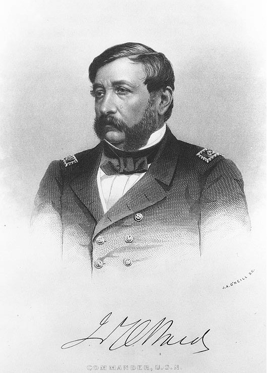 Commander James Ward, captain of the USS Thomas Freeborn. As a young lieutenant, he was one of the five founders of the Annapolis Naval Academy and even wrote a textbook on naval tactics.  He was the first US Navy officer killed during the Civil War.