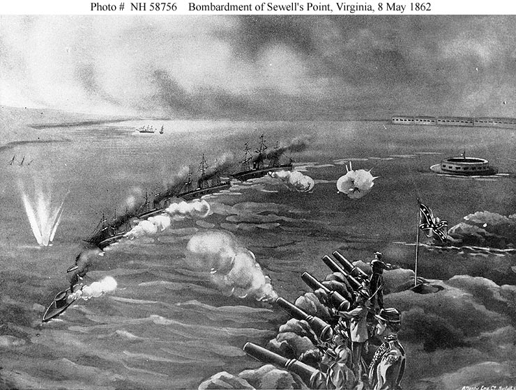Representation of the Battle of Sewell's Point