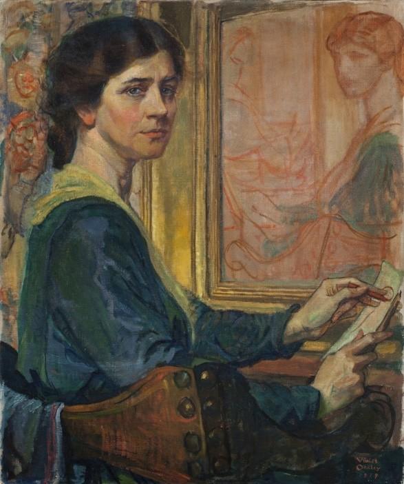 Self-portrait – Violet Oakley, 1874-1961