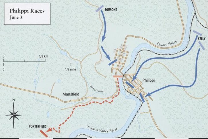 Battle of Philippi War Map