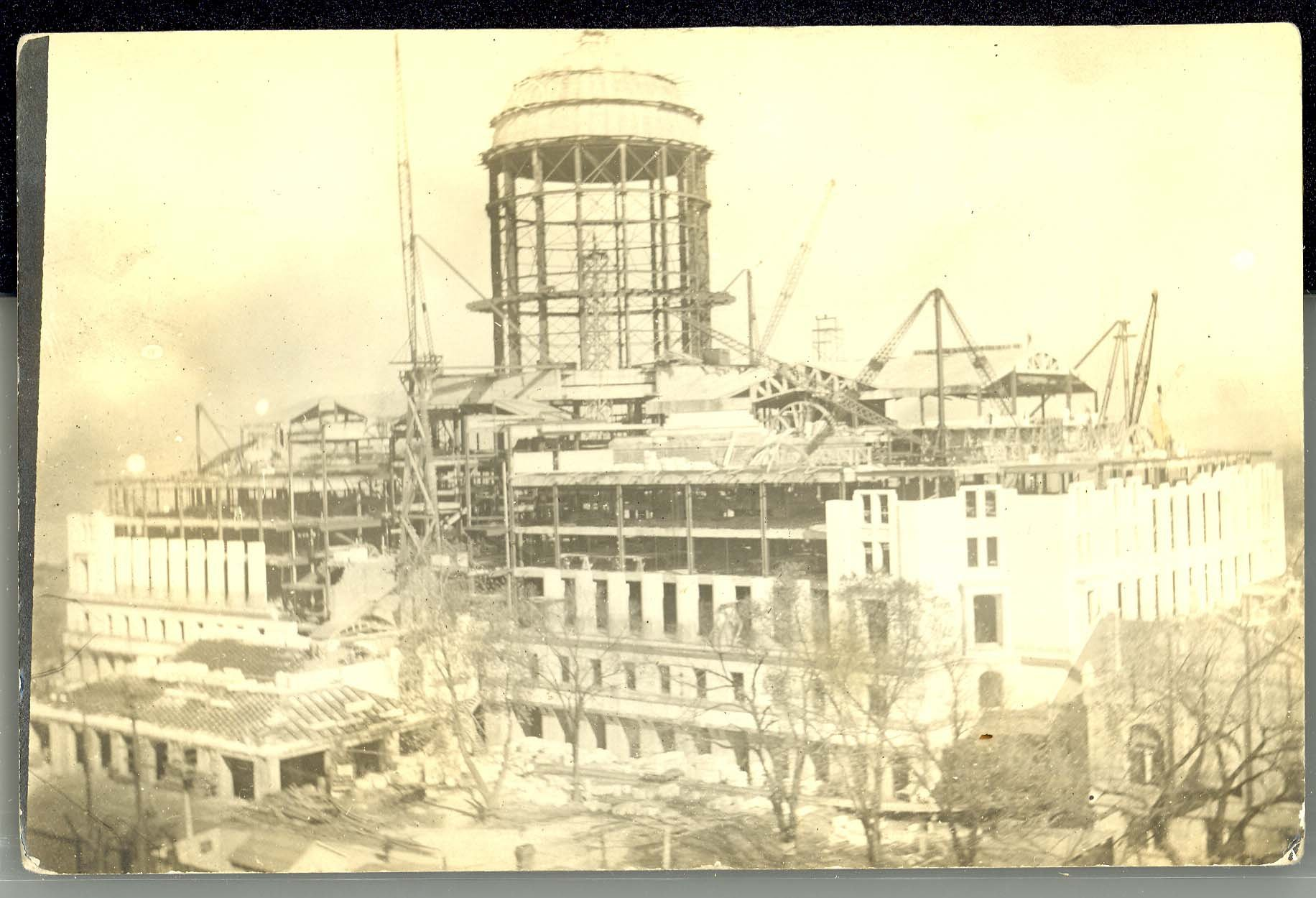 Missouri State Capitol under construction 1914-1917