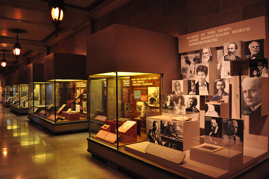 Some of the exhibits in the museum