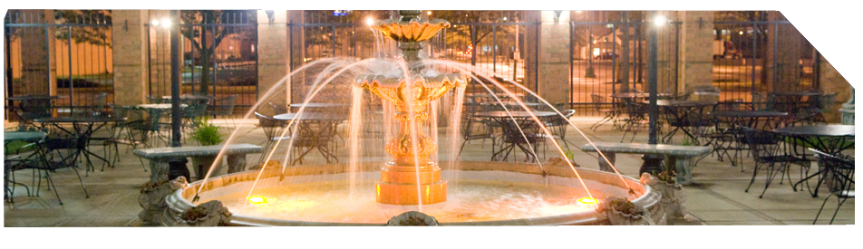 Beautiful fountain in the Italian Conference Center, a part of the Italian Community Center