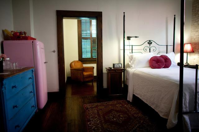 Each room has a unique modern vintage style