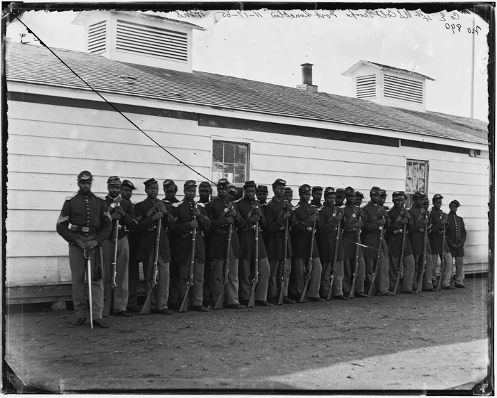 36th USCT-One of many African American regiments who served in the war. This regiment was involved in the fighting at New Market Heights