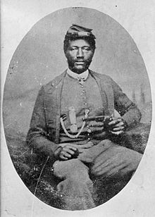 Sgt. James Harris of the 38th USCT. He was one of over 20 to receive the Medal of Honor for the attacks along Confederate defenses at Richmond. Harris won his for his gallantry at New Market Heights.