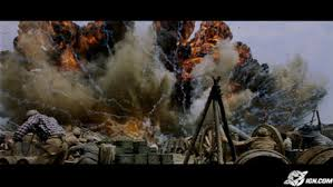"""The explosion as portrayed in the film """"Cold Mountain"""""""