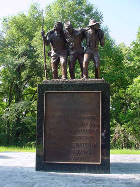 The African American Monument at Vicksburg Battlefield was built by the city of Vicksburg and the state of Mississippi and dedicated in 2004.