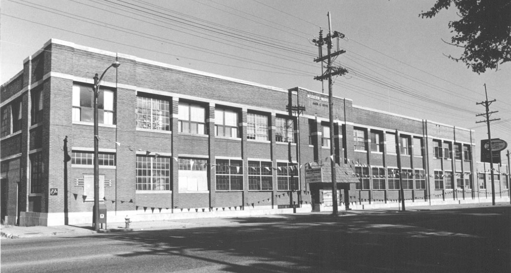 The Rushton Baking Company building as Modern Warehouse, Inc (circa 1973)